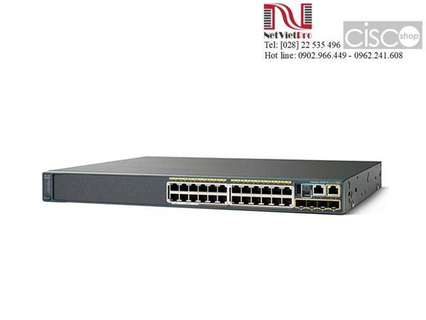 Switch mạng Cisco WS-C2960S-24PS-L đã qua sử dụng