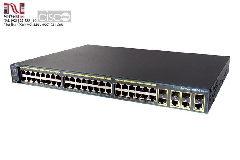 Thiết bị mạng Switch Cisco WS-C2960+48TC-L cũ đã qua sử dụng